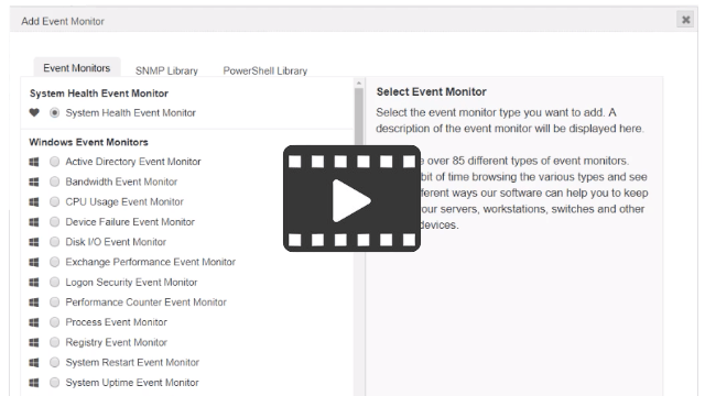 Video about adding event monitors