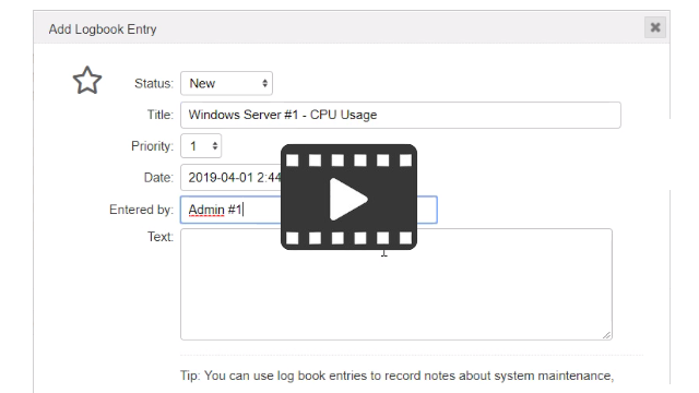 Video about using logbook entries
